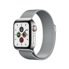 Watch Series 5 GPS + Cellular, 40mm Stainless Steel Case with Milanese Loop (Серебристый)
