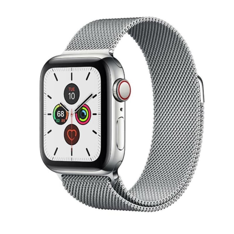 Watch Series 5 GPS + Cellular, 44mm Stainless Steel Case with Milanese Loop (Серебристый)