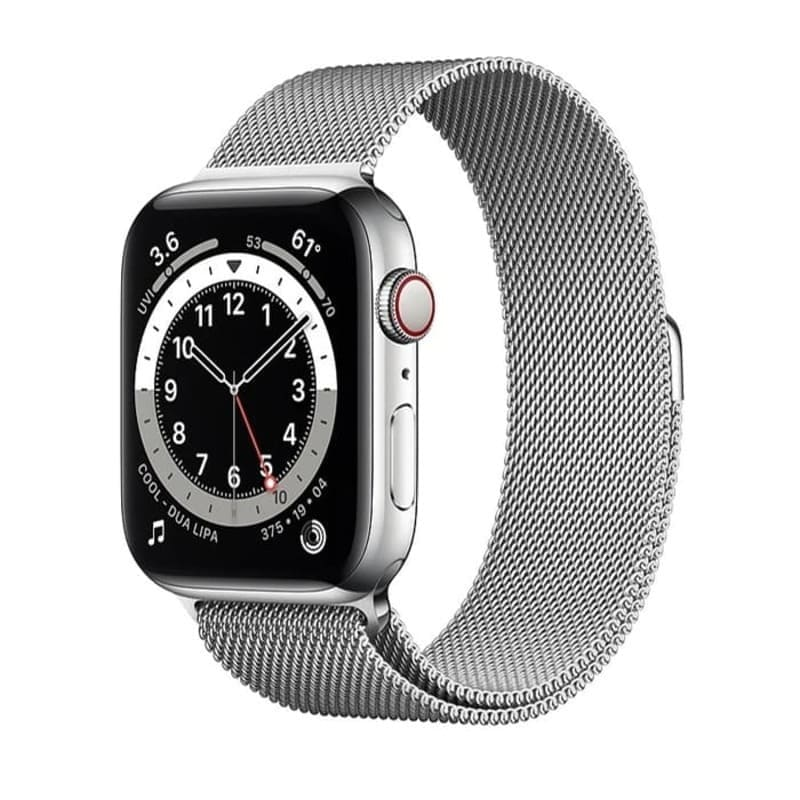 Watch Series 6 GPS + Cellular, 44mm Stainless Steel Case with Milanese Loop (Серебристый)