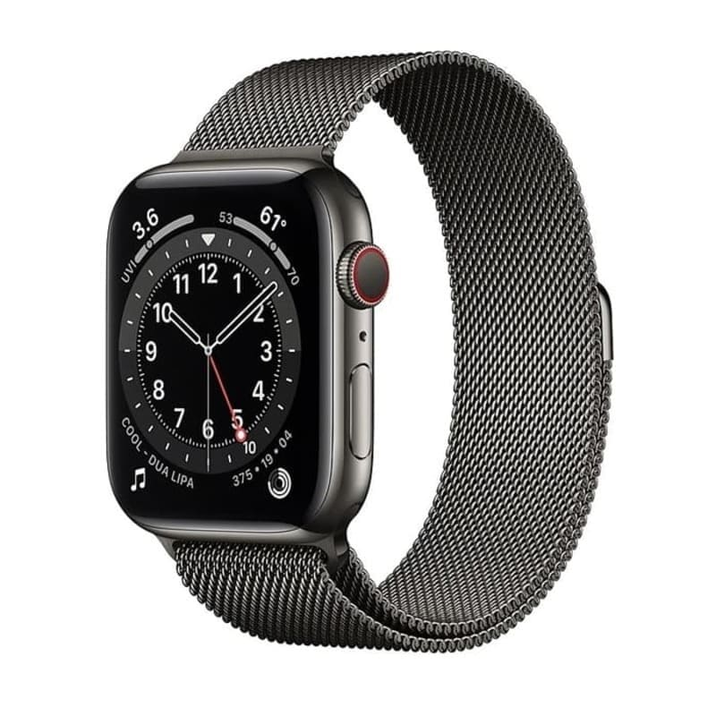 Watch Series 6 GPS + Cellular, 44mm Stainless Steel Case with Milanese Loop (Графит)