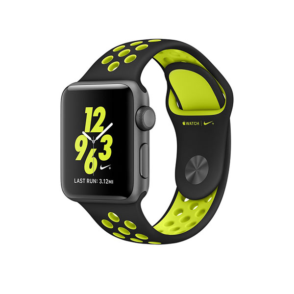 Watch Series 2 Nike+ 38mm Space Gray Aluminum Case with Black/Volt Nike Sport Band