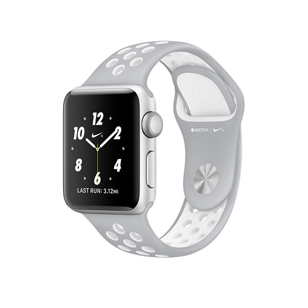 Watch Series 2 Nike+ 38mm Silver Aluminum Case with Flat Silver/White Nike Sport Band