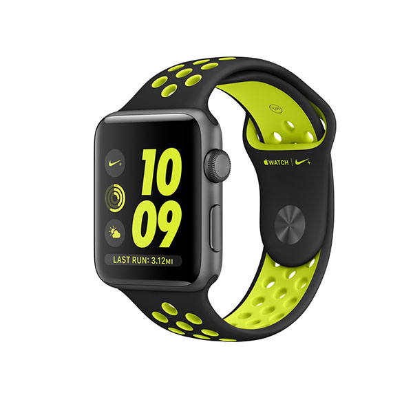 Watch Series 2 Nike+ 42mm Space Gray Aluminum Case with Black/Volt Nike Sport Band