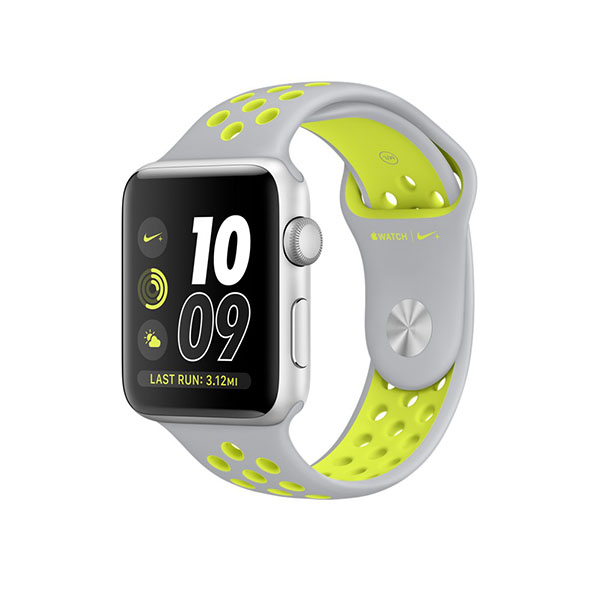 Watch Series 2 Nike+ 42mm Silver Aluminum Case with Flat Silver/Volt Nike Sport Band