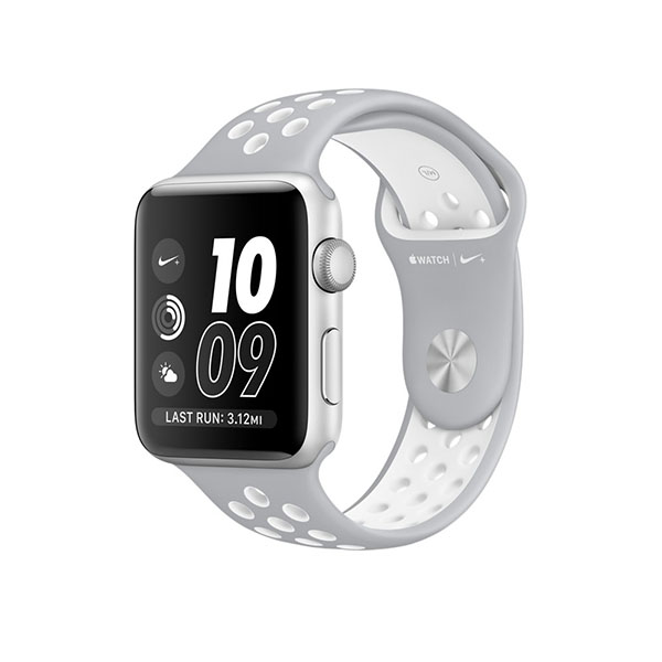 Watch Series 2 Nike+ 42mm Silver Aluminum Case with Flat Silver/White Nike Sport Band