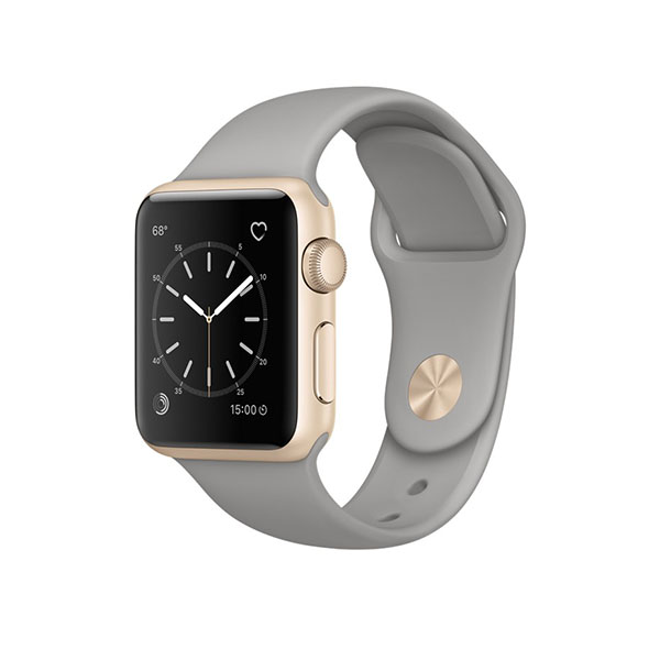 Watch Series 2 38mm Gold Aluminum Case with Concrete Sport Band