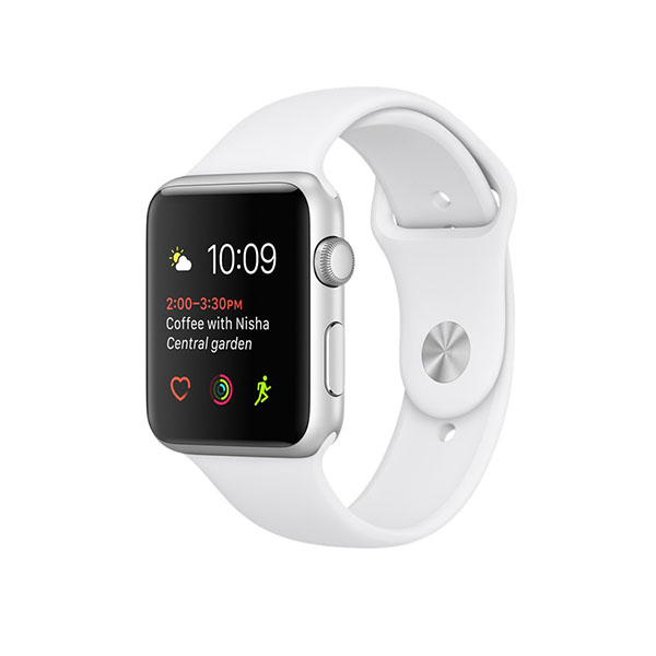 Watch Series 2 42mm Silver Aluminum Case with White Sport Band