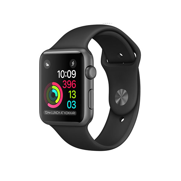 Watch Series 2 42mm Space Gray Aluminum Case with Black Sport Band