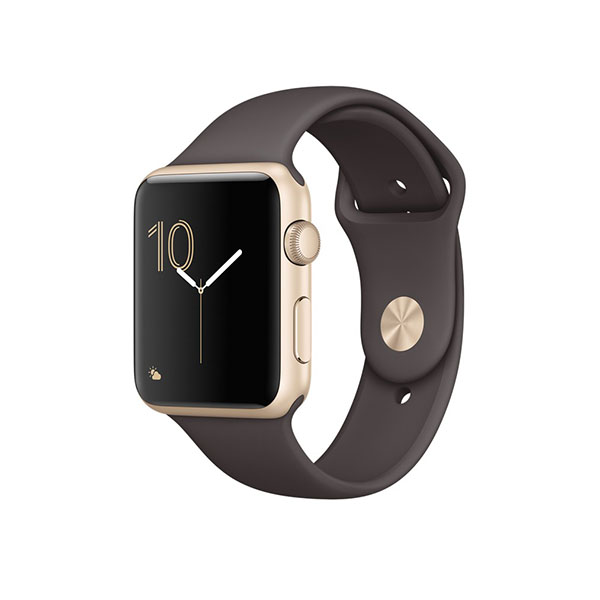 Watch Series 2 42mm Gold Aluminum Case with Cocoa Sport Band