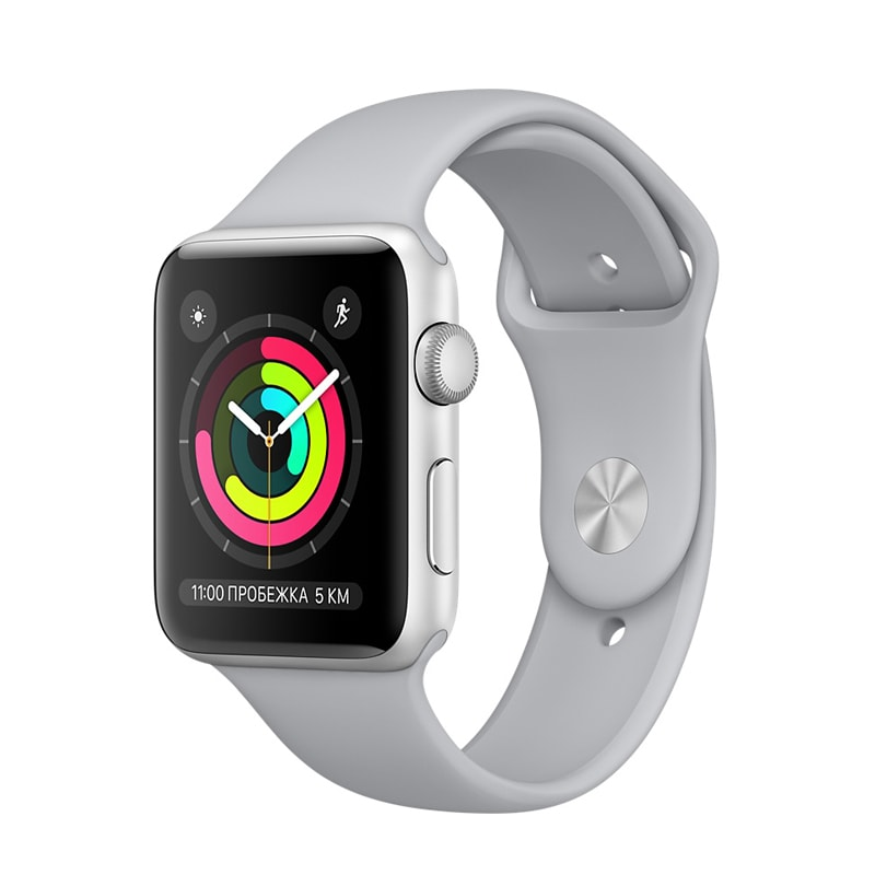 Apple Watch Series 3 38mm Silver Aluminum with Fog Sport Band