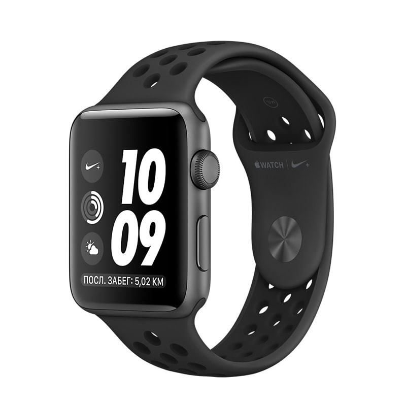 Apple Watch Series 3 42mm Space Gray Aluminum Case with Nike Anthracite/Black Sport Band