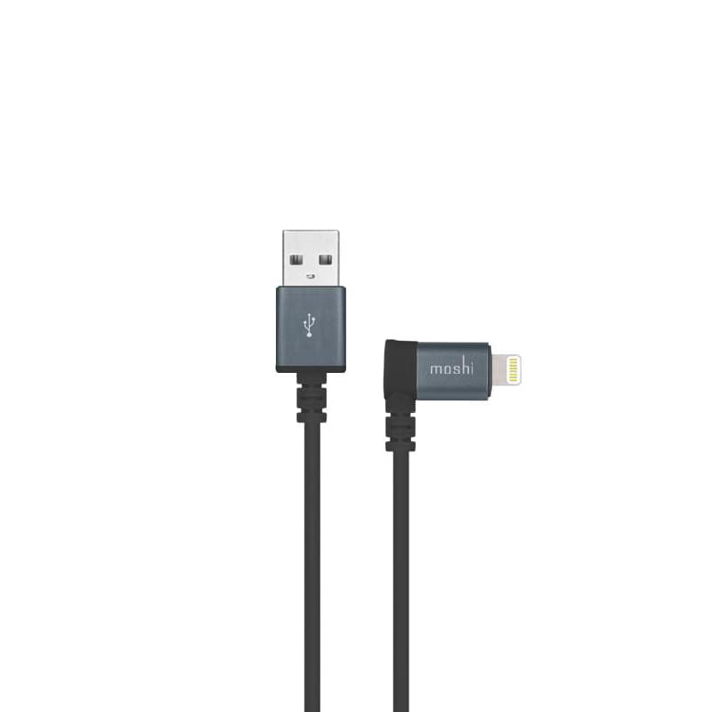 Кабель Moshi Lightning to USB with 90-degree connector Black 1.5м