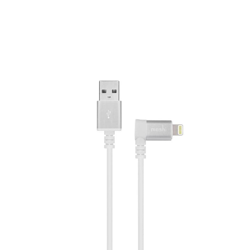 Кабель Moshi Lightning to USB with 90-degree connector White 1.5м