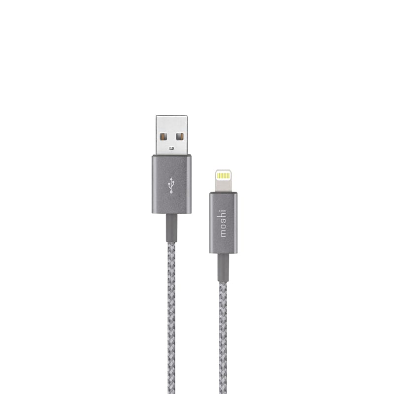 Кабель USB Cable with Lightning Connector Moshi Integra Titanium Gray 1,2м