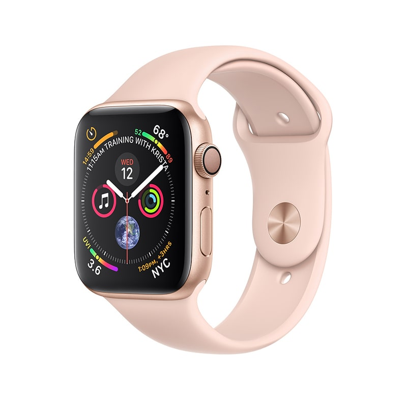 Watch Gold 40 mm Aluminum Case with Pink Sand Sport Band