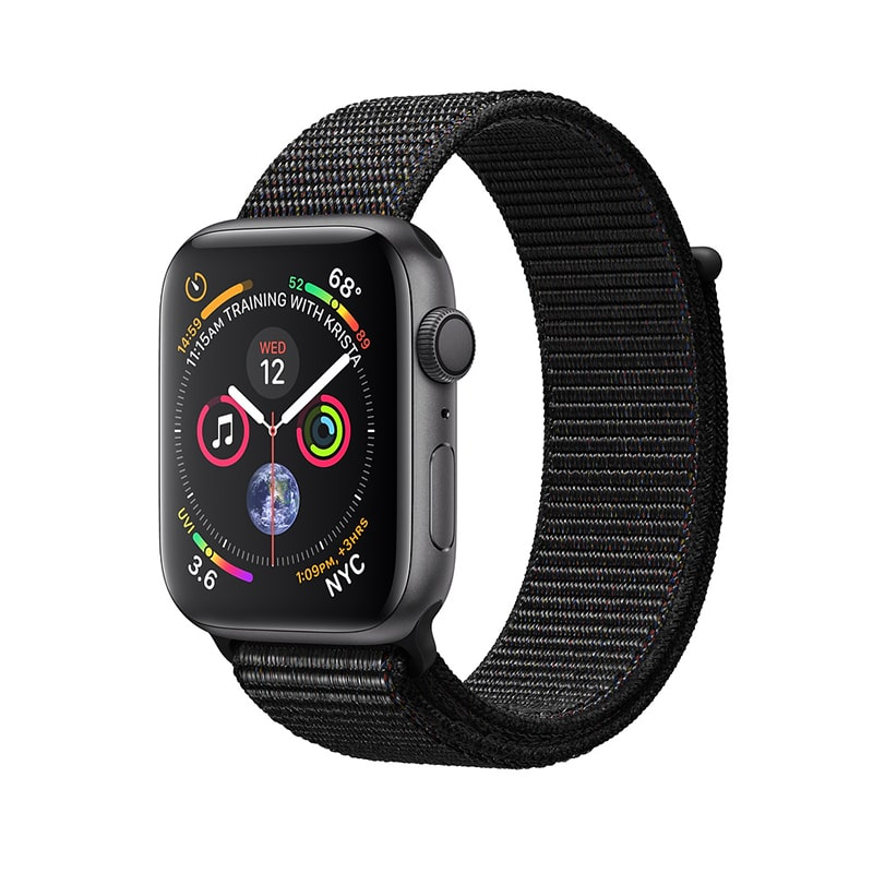 Apple Watch Series 4 40mm Aluminum Case with Sport Loop (Серый космос/ Чёрный) (MU672)
