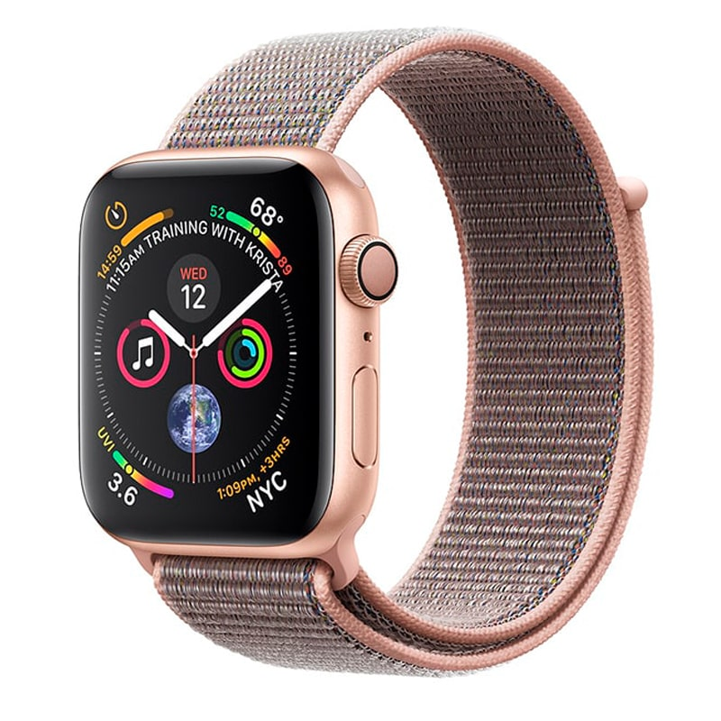 Watch Gold 44 mm Aluminum Case with Pink Sand Sport Loop