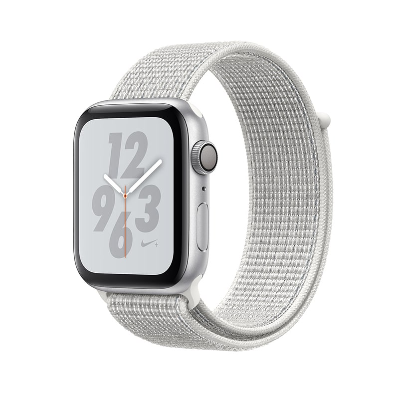 Watch Nike+ 40 mm Silver Aluminum Case with Summit White Nike Sport Loop