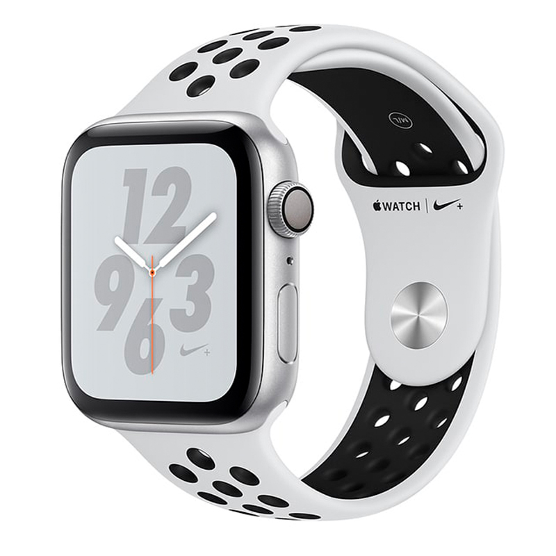 Watch Nike+ 44 mm Silver Aluminum Case with Pure Platinum/Black Nike Sport Band